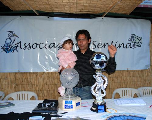L'ex calciatore Guido P. con la figlia